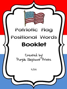 Patriotic Flag Positional Words Booklet