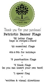 Patriotic Flags Banner Printable (Burlap Texture)!