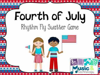 Fourth of July Rhythm Fly Swatter Card Game