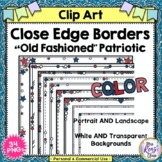 Border Set - Red White and Blue Patriotic Set of Themed Cl