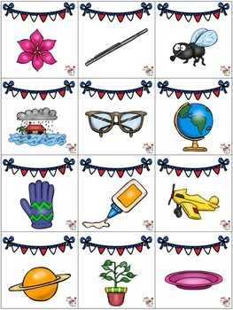 Patriotic Game Cards - L Blends