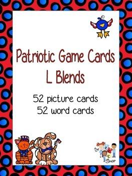 Patriotic Game Cards - L Blends