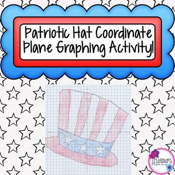 Patriotic Hat Coordinate Plane Graphing Activity!