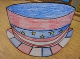 Patriotic Hat Pattern and US Constitution Tracing Activity
