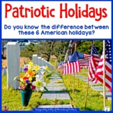 Patriotic Holidays: A Freebie