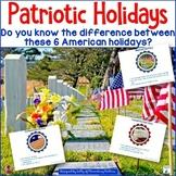 Patriotic Holidays: A Freebie