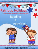 Patriotic Holidays (4th of July, Memorial Day, Flag Day)