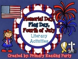 Patriotic Holidays Literacy Activities {Memorial Day, Flag Day, Fourth of July}