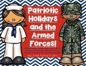 Patriotic Holidays & the Armed Forces (student books, activities, & crafts)
