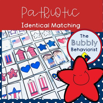 Patriotic Identical Matching Cards