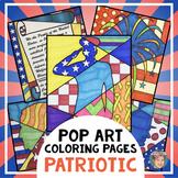 American Symbols Patriotic Coloring Pages - Includes Septe