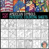 Patriotic American Symbols Coloring Pages - A Great 4th of July Activity