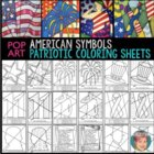 Patriotic Interactive Coloring Pages incl September 11 (9/11) & Constitution Day