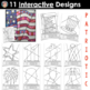 Patriotic Interactive Coloring Pages for All Occasions (incl. 4th of July)