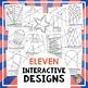 American Symbols Patriotic Coloring Pages - Great for Pres
