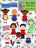 Patriotic Kids Clip Art {by Busy Bee Clip Art}