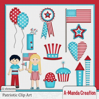 Patriotic Kids Clip Art