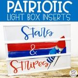 Patriotic Light Box Inserts- Heidi Swapp or Leisure Arts