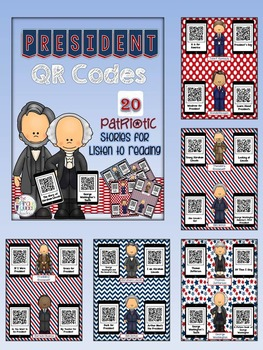 Patriotic Bundle: Daily Five QR Code Listen to Reading and Work on Writing