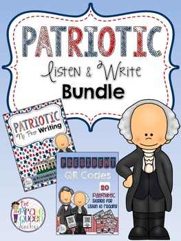 Patriotic Bundle: Daily Five QR Code Listen to Reading and