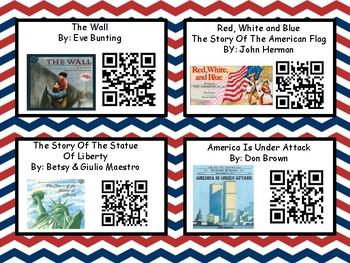 Patriotic Listening Center With QR Codes (32 books)