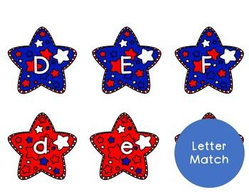 Patriotic Literacy File Folder Games