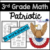Patriotic Math 3rd Grade Memorial Day July 4th Worksheets