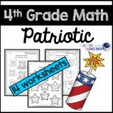 Patriotic Math 4th Grade Memorial Day July 4th Worksheets