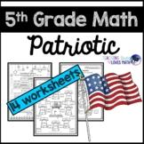 Patriotic Math 5th Grade Memorial Day July 4th Worksheets