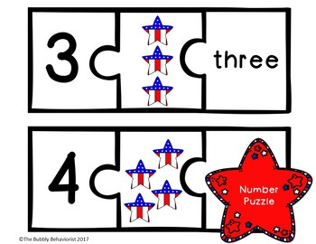 Patriotic Math File Folder Games