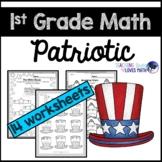 Patriotic Math Worksheets 1st Grade