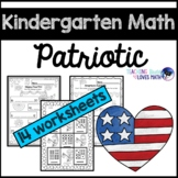 Patriotic Math Worksheets Kindergarten