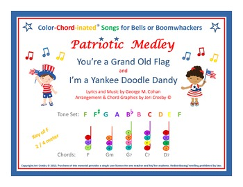 Patriotic Medley for Boomwhackers / Bells - Grand Old Flag & Yankee Doodle Dandy
