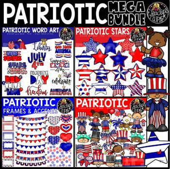 Patriotic Mega Clip Art Bundle {Educlips Clipart}