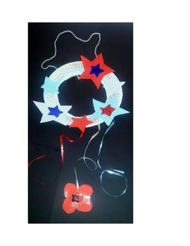 Patriotic Memorial Day Wreath