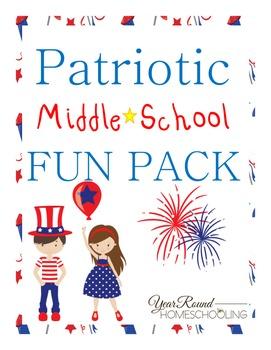 Patriotic Middle School Fun Pack