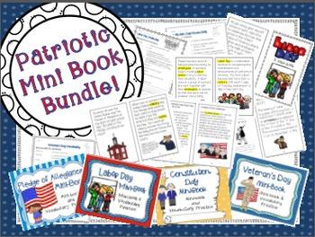 Patriotic Mini Book Bundle (August - November)