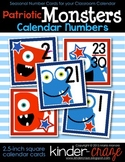 Patriotic Monsters Calendar Numbers