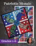 Patriotic Mosaic - Interactive Coloring Sheets - Memorial