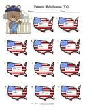 Patriotic Multiplication Fact Families Packet
