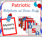 Patriotic Multiplication and Division Review Mystery Pictures