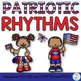Music Class Patriotic Rhythm Activities: Notation, Body Pe