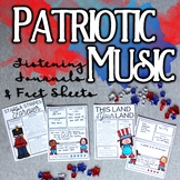 Patriotic Music Listening Journal & Fact Sheets