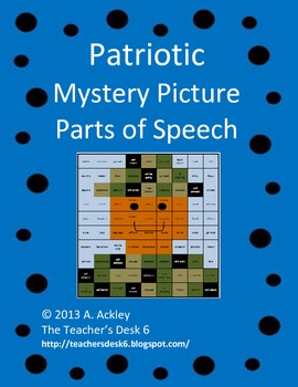 Patriotic Mystery Picture Parts of Speech