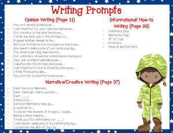 Patriotic Writing Prompts