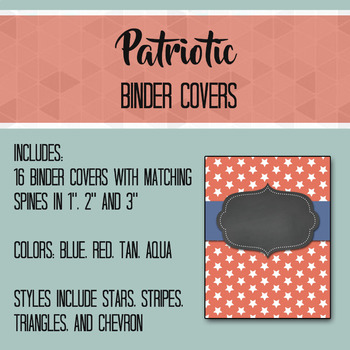 Patriotic Nautical Editable Binder Covers and Spines