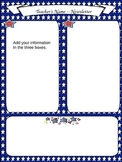 Patriotic Newsletter, Literacy and Math Station Signs, Rot