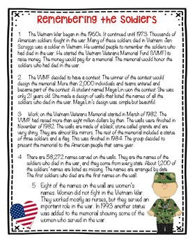 Patriotic Nonfiction and Fiction task cards & writing