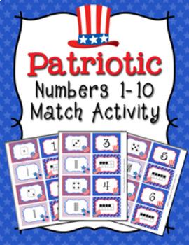 Patriotic Number Match Activity