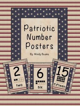 Patriotic Number Posters